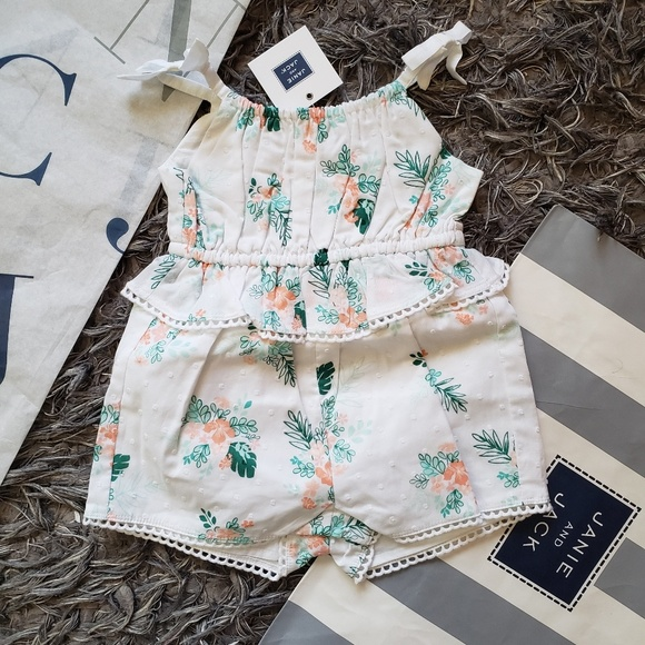 51f0b0edec36 NWT Janie and Jack floral romper baby girl clothes